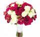 букет невесты из красных и белых роз